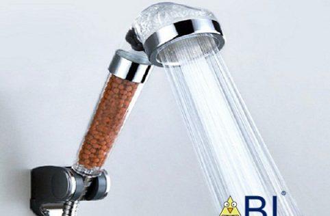 vòi hoa sen tăng áp hạt lọc nước nano xanh thumb