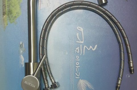 vòi rửa bát nóng lạnh cần cứng sus304 kèm đôi dây cấp