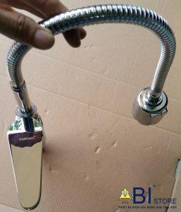 vòi chậu rửa bát nóng lạnh cần cao taroma 3