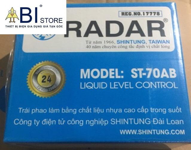 phao điện bể nước radar