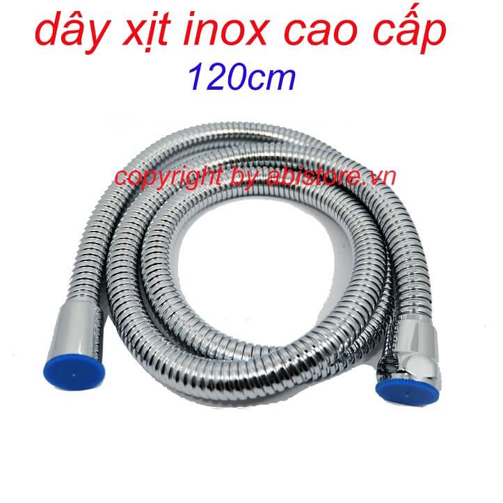 dây vòi xịt vệ sinh inox 120cm ốc đồng