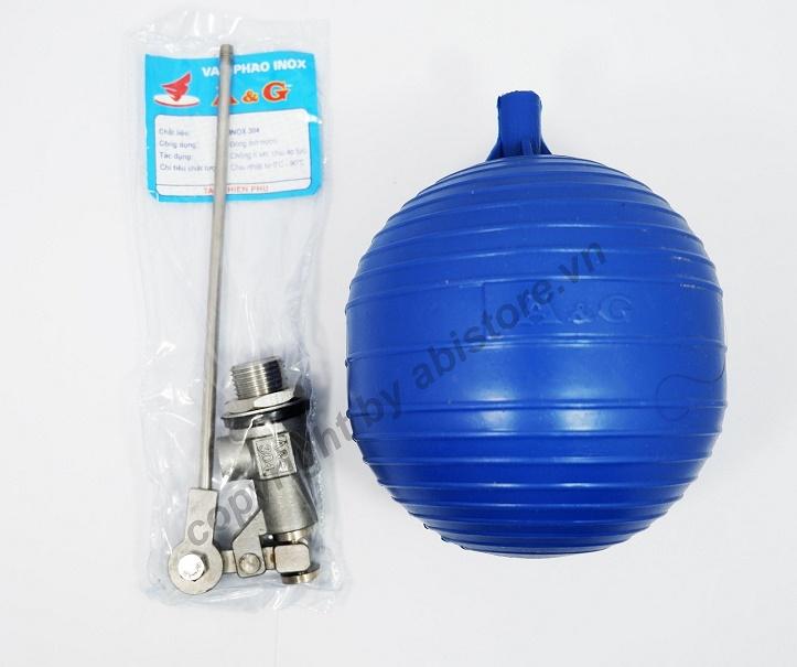phao cơ inox 304 AG bể nước chống tràn
