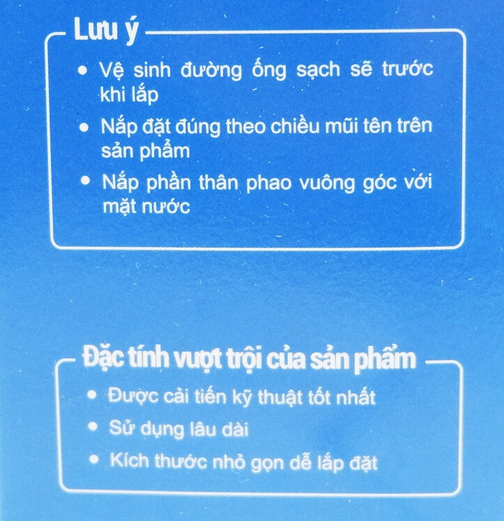 van phao thông minh cho két nước bồn cầu, bể nước