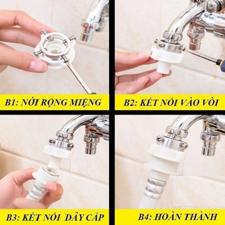 cách thay đầu dây cấp nước máy giặt