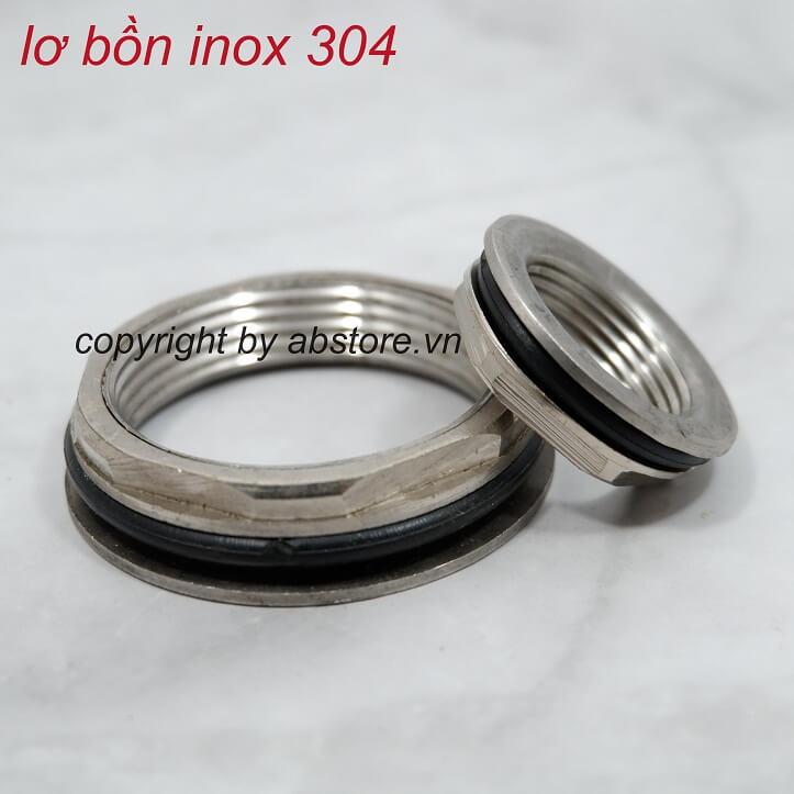 ốc rốn bồn nước inox 27 và 48, lơ bồn 1