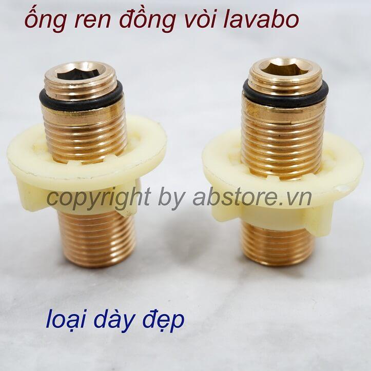 chân đồng và ốc nhựa vòi lavabo chậu rửa mặt 1