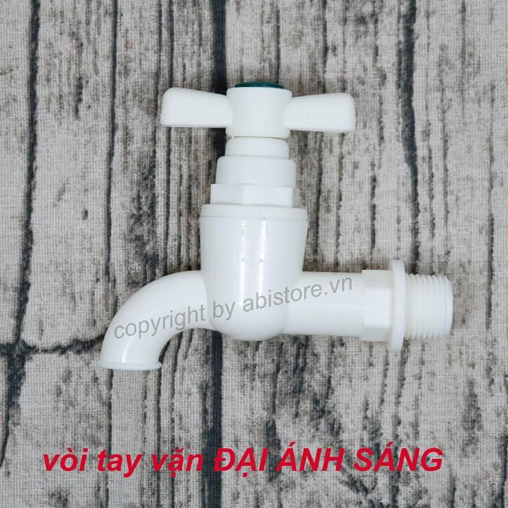 Vòi vườn, vòi nước nhà tắm nhựa ĐAS tay vặn giá rẻ hà nội