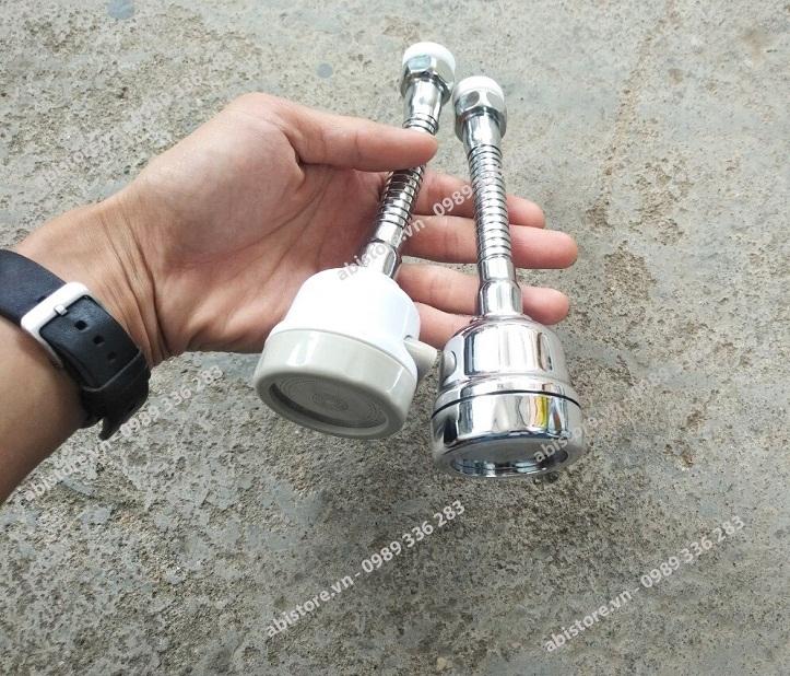 đầu nối vòi rửa bát tăng áp xoay 360 độ thế hệ mới 2 chế độ xả