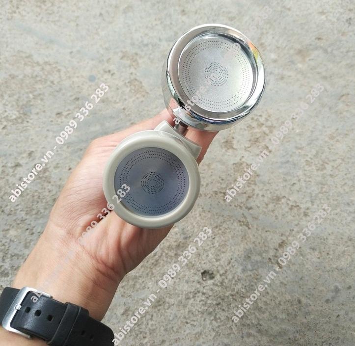 đầu nối vòi rửa bát tăng áp xoay 360 độ thế hệ mới loại mạ và loại không mạ
